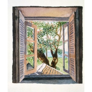 5x4, Landscape, Barbados, Private Collection, Watercolor