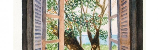 5x4, Landscape, Barbados, Private Collection, Watercolor