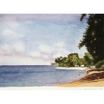8x12, Landscape, Barbados, Watercolor