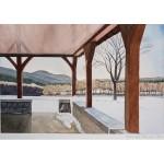 8x12, Landscape, Berkshires, Watercolor