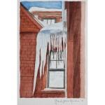 6x4, Architecture, Berkshires, Watercolor