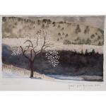 4x6, Landscape, Berkshires, Watercolor