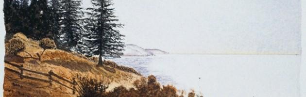 4x6, Landscape, California, Private Collection, Watercolor