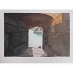 4x6, Corsica, Watercolor