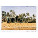4x6, Landscape, Egypt, Private Collection, Watercolor