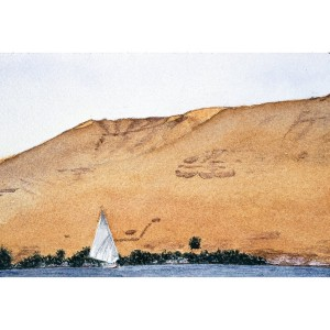 12x18, Landscape, Egypt, Watercolor