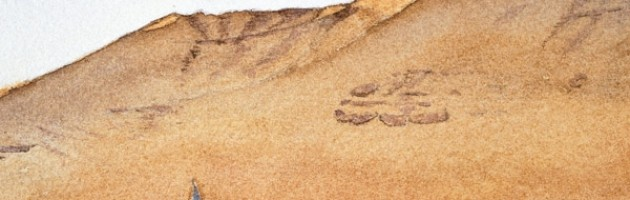 12x18, Landscape, Egypt, Watercolor