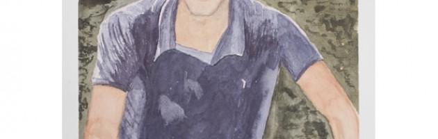14 3/4 x 9 3/4, Portrait, Private Collection, Watercolor