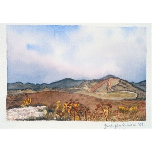 4x6, Landscape, Sicily, Watercolor