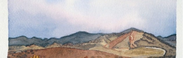 4x6, Landscape, Sicily, Watercolor