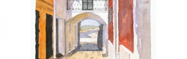 6x4, Landscape, Spain, Private Collection, Watercolor