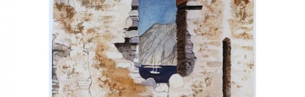 18x12, Landscape, Turkey, Private Collection, Watercolor