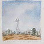 6 1/2 x 6 Landscape, Tyringham, Berkshires, Watercolor